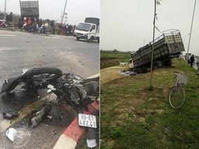 Hà Nội: Người đi Honda SH dừng xe nghe điện thoại, bị ô tô tải đâm tử vong