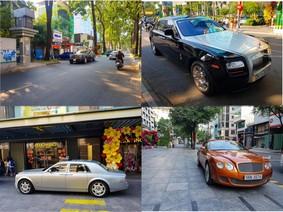Loạt xe siêu sang của đại gia Việt trên đường phố Sài thành chiều 29 Tết Nguyên Đán