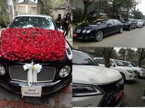 """Dàn xe siêu sang """"khủng"""" rước dâu tại Hà Tĩnh"""