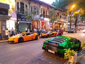 """Dàn siêu xe chục tỷ Đồng của đại gia Việt """"du xuân"""" vào ngày đầu tiên của năm Mậu Tuất"""