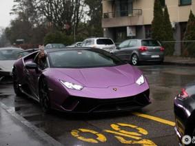 Siêu xe mạnh nhất trong nhà Lamborghini Huracan gây sự chú ý khi mang ngoại thất tím