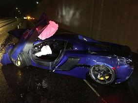 Tài xế gây tai nạn khi lái siêu xe McLaren 650S, đổ lỗi cho lốp mùa hè