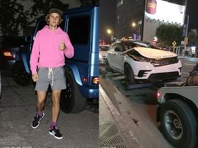 Mercedes-Benz G-Class của Justin Bieber bị Range Rover Velar húc đuôi