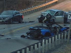Tai nạn kinh hoàng khiến nữ hành khách ngồi trên Lamborghini Aventador SV tử vong