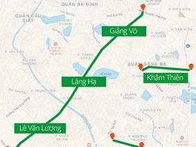 11 tuyến đường có khung giờ hạn chế lưu thông đối với xe hợp đồng dưới 9 chỗ ngồi ở Hà Nội