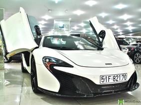 """Cận cảnh siêu xe McLaren 650S Spider mới """"chia tay"""" Chủ tịch Trung Nguyên"""