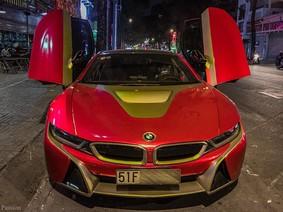 """BMW i8 chuyên làm xe cưới khoác áo mới """"Iron Man"""""""