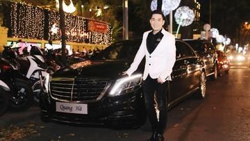 Quang Hà lái Mercedes-Benz S500L mới tậu 6,6 tỷ Đồng để họp mặt cùng bạn bè
