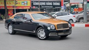 Xe nhà giàu Bentley Mulsanne thế hệ mới lần đầu lăn bánh trên đường phố Hà Nội