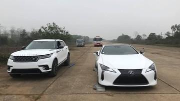 Lexus LC 500h 2018 màu trắng độc nhất Việt Nam xuất hiện tại sân bay Hòa Lạc