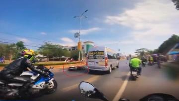 Vụ tai nạn của Honda Vision khiến đoàn mô tô phân khối lớn bị giữ tại chốt gây tranh cãi