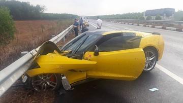 Chevrolet Corvette C7 Stingray gặp nạn trên cao tốc Long Thành - Dầu Giây