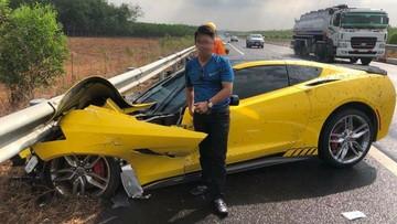 Cư dân mạng sốc với video tài xế chiếc Chevrolet Corvette chia sẻ nguyên nhân mình gặp nạn