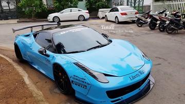 """Cận cảnh bộ áo xanh ngọc của """"ngựa chiến"""" Ferrari 458 Italia độ độc nhất Việt Nam"""
