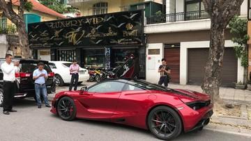 """Siêu xe McLaren 720S Cường """"Đô-la"""" từng """"xem mắt"""" bất ngờ xuất hiện trên đường phố Hà Nội"""