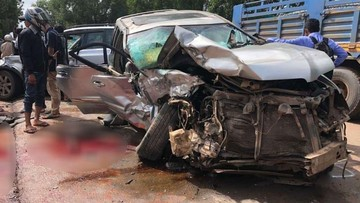 Hoàng thân Campuchia bị thương trong vụ tai nạn kinh hoàng giữa BMW X3 và Toyota Highlander