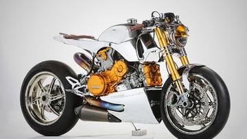 """Chói mắt với Ducati 1199 Panigale S độ Cafe Racer cực """"sang chảnh"""""""