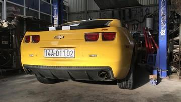 """Chevrolet Camaro RS Quảng Ninh được chủ nhân độ lại ống xả """"khủng"""""""
