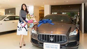 Á Hậu Thuý Vân tậu xe sang Maserati Quattroporte Granlusso giá 6,9 tỷ đồng