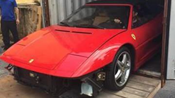 Cận cảnh siêu xe cổ Ferrari F355 Spider nhập lậu bị tạm giữ tại Hải Phòng