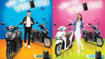 Honda Vision ra mắt phiên bản mới với trang bị khóa thông minh Smart Key