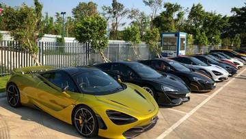 Dàn siêu xe McLaren của giới nhà giàu Hồng Kông tụ tập cùng nhau