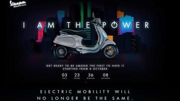 Xe điện Vespa Elettrica ra mắt ngày 8/10, tích hợp công nghệ tương tác với người lái