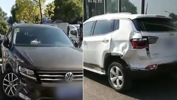 Mâu thuẫn với đại lý ô tô, nữ tài xế điên cuồng đâm 7 chiếc xe đang đỗ