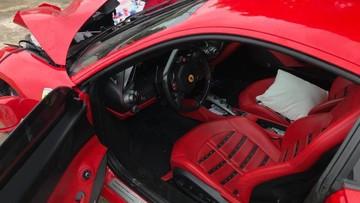"""Gặp tai nạn khiến đầu xe """"nát bét"""" nhưng túi khí siêu xe Ferrari 488 GTB của Tuấn Hưng vẫn không bung ra"""