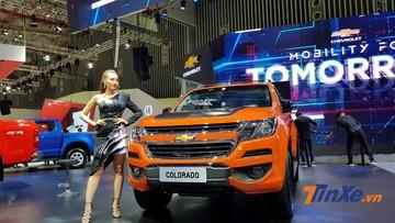 """Chevrolet Colorado Storm nổi bật cùng Trailblazer """"Đen hoàn hảo"""" tại Triển lãm Ô tô Việt Nam 2018"""