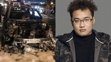 Xe Mazda3 của thành viên ban nhạc Da LAB cháy trơ khung tại Hà Nội