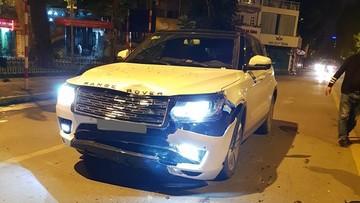 """Xe Trung Quốc Zotye """"nhái"""" Range Rover hư hỏng nặng đầu xe khi tông vào đuôi Kia Morning"""