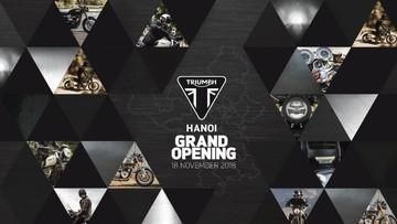 Showroom chính thức của Triumph tại Hà Nội khai trương vào cuối tuần này