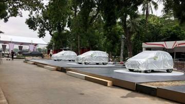 VinFast Fadil đã có mặt tại công viên Thống Nhất, sẵn sàng cho sự kiện ra mắt ngày mai