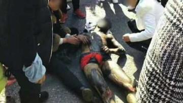 Chú rể cởi trần chạy từ phòng tân hôn ra đường, bị xe BMW đâm trúng