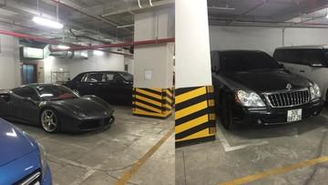 Ngất với căn hầm đỗ xe toàn Rolls-Royce, Maybach, Bentley và cả siêu xe Ferrari 488 GTB tại Hà Nội