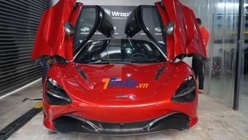 """Mới vào Nam, McLaren 720S màu đỏ Memphis độc nhất Việt Nam đã được chủ nhân cho đi """"làm đẹp"""""""