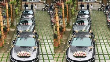 """Siêu xe Ferrari 488 GTB từng của Cường """"Đô-la"""" tham dự rước dâu cùng đoàn xe """"khủng"""" ở Hà Nội"""