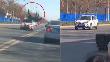 Ngựa phi như bay trên phố, lao thẳng vào đầu SUV hạng sang BMW X3