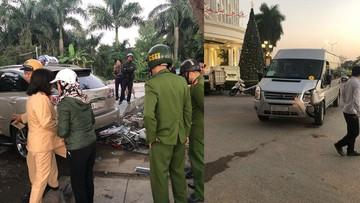 Hải Phòng: Nữ tài xế đi Lexus RX350 gây tai nạn liên hoàn khiến 2 người lái xe ôm bị thương