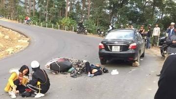 """Vừa làm xong đường, Tam Đảo lại xảy ra tai nạn do """"phượt thủ"""" đổ đèo bằng xe tay ga"""
