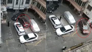Người lái Peugeot 3008 liên tục tông vào sườn xe sang Cadillac để lấy lối ra