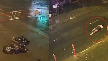 Đồng Nai: Nam thanh niên đi xe máy tông vào rào chắn tàu hỏa, mài mặt hàng chục mét trên đường