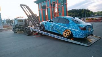 Đây là cách chủ nhân chiếc BMW M5 độ Onikyan của Nhật Bản di chuyển xe xuống đường đua Bình Dương