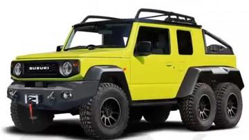 Nếu có thực, Suzuki Jimny 6x6 trông sẽ như thế này