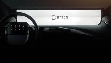 """Nhãn hiệu Byton Trung Quốc hé lộ nội thất xe mới với một """"máy tính bảng gắn trên vô lăng"""""""