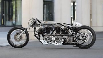 """""""Hết hồn"""" với bản độ xe phân khối lớn Chopper """"V4"""" từ Harley-Davidson cực khủng"""