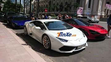 """Lamborghini Aventador SV từng của Minh """"Nhựa"""" họp mặt cùng đoàn siêu xe cực """"khủng"""" tại Sài thành"""