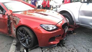 Quận 2: Lao qua dải phân cách giữa đường, BMW M6 hàng hiếm tông móp bên hông xe chuyên dụng chở tiền
