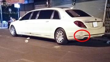 Siêu phẩm Mercedes-Maybach S600 Pullman tái xuất trên đường phố Sài thành với vết móp khá lớn